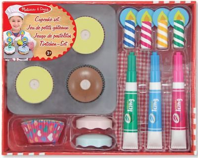 Melissa & Doug WOODEN CUPCAKE SET PLAY FOOD Role Play/Toy/Gift Toddler/Child BN • 18.79£