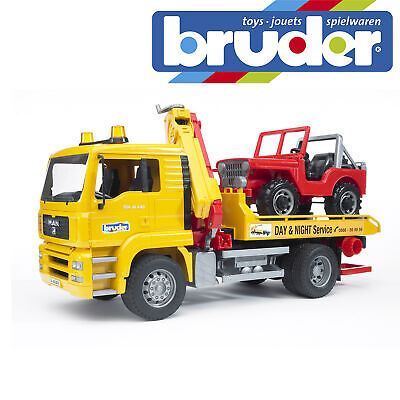 Bruder MAN TGA Breakdown Truck & Cross Country Vehicle Kids Toy Model Scale 1:16 • 59.99£