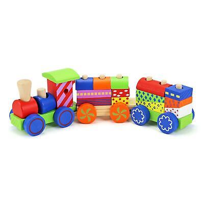 17 Piece Wooden Train Kids Toy Play Set Children Role Play Colourful Accessories • 7.95£