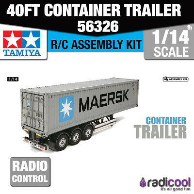56326 Tamiya 40ft Container Semi-Trailer 1/14th R/C Radio Control Assembly Model • 434.25£