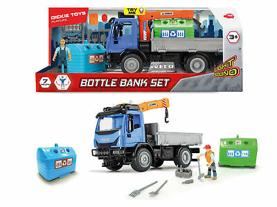 Dickie Toys Playlife Recycling Iveco Truck Bin Wagon Container Set Age 3+ • 24.79£