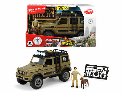 Dickie Toys Playlife Forest Park Ranger Set With Mercedes 4x4 Jeep 11pcs Age 3+ • 21.07£