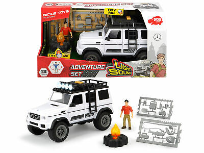 Dickie Toys Playlife Adventure Set Inc Mercedes Jeep 4x4 With Lights & Sound! • 21.07£