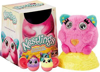 Nestlings Interactive Soft Toy Pet & Babies With Lights And Sounds - Pink Colour • 11.99£