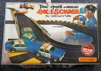 Race And Chase Pt 6000 Matchbox Powertrack Vintage 1970's Slot Car Racing System • 72.20£
