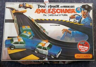 Race And Chase Pt 6000 Matchbox Powertrack Vintage 1980's Slot Car Racing System • 84.94£