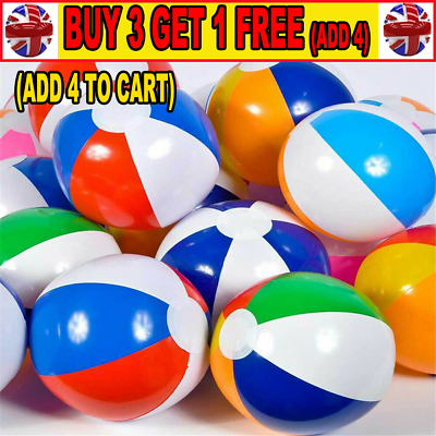 10X Inflatable Panel Blow Up Beach Ball 22CM Holiday Party Swimming Garden HHUK • 7.97£