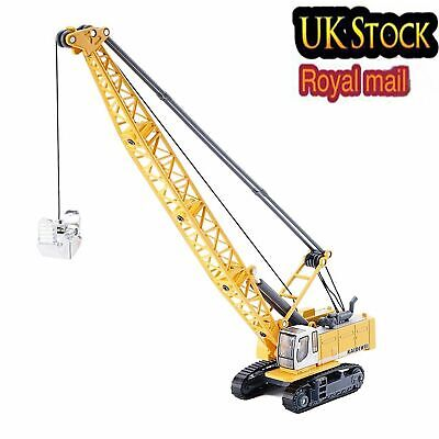 KDW 1/87 Scale DieCast Digging Cable Crane Excavator Construction Toy Xmas Gift • 12.89£