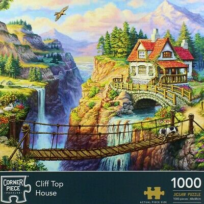 Cliff Top House 1000 Piece Jigsaw Puzzle, Toys & Games, Brand New • 9£
