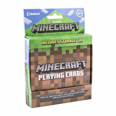 Minecraft Playing Cards Includes Collectors Embossed Storage Tin Ideal For Games • 6.99£