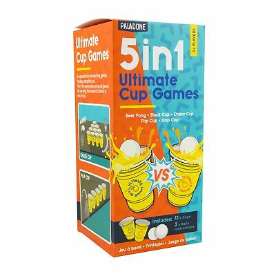 5 In 1 Ultimate CUP Games   Beer Pong, Stack Cup, Chase Cup, Flip Cup, And Slap • 5.99£