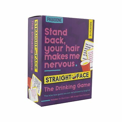 Straight Face Drinking Game Hilarious Party Game Includes Shot Glass And Jokes • 4.99£