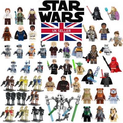 Star Wars Mini Figures Clones Droids Skywalker Yoda Leia Ewok - Lego Compatible • 19.99£