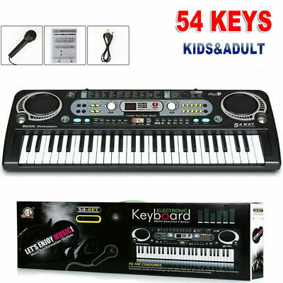 Musical Keyboard Piano 54keys Electronic Electric Digital Beginner Adult Gift • 11.59£