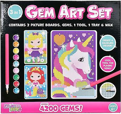 Sticky Mosaic Picture Art Set - Childrens Colour By Numbers Craft Kit - Kids Toy • 3.99£