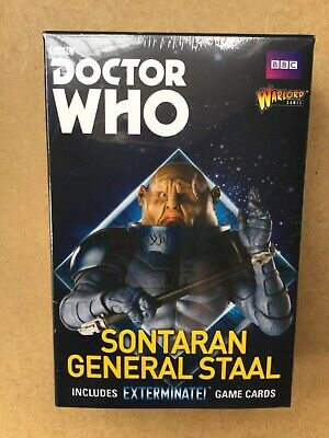 DOCTOR WHO - Sontaran Staal WARLORD GAMES MINIATURES 38mm NEW/SEALED EXTERMINATE • 12.50£
