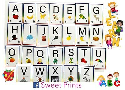 Alphabet Flash Cards. Educational Learning Early Years • 5£