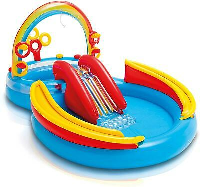 Intex Rainbow Rings Childrens Activity Water Play Centre Paddling Pool Slide • 58.99£