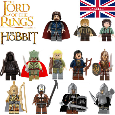 Lord Of The Rings Mini Figures - Lego Compatible The Hobbit Aragorn Legolas Elf • 13.99£