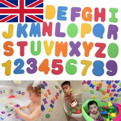 Kids Bath Toys Foam Number 24 Letters Bath Toddler Tub Floating Early Education • 2.99£