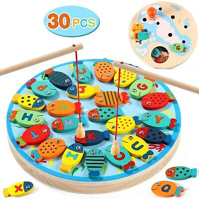*NEW* Tanku Toys Wooden Magnetic Alphabet Fishing Toy • 14.99£