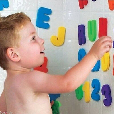 Bath Toys 36pcs Kids Foam Number Letters Bath Toddler Tub Early Education Toys • 4.59£
