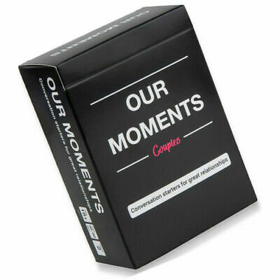 Our Moments Cards Couples Board Game 100 Thought Provoking Conversation Starters • 11.39£