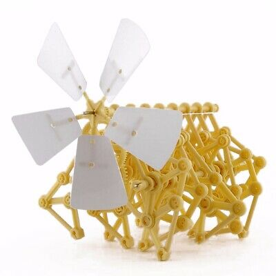 Wind Powered Walker Strandbeest Assembly DIY Puzzle Model Kits Robot Toy • 5.99£