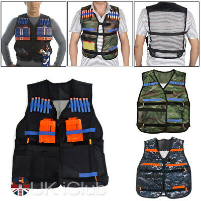 Kids Toy Tactical Vest Suit For Nerf Gun N-Strike Elite Outdoor Game Bullet Dart • 5.59£