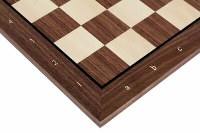 Walnut Wooden Chessboard 52cm / 20,15 ,alphanumeric Notation, 55mm Square • 25£