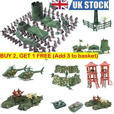 New Military Plastic Toy Soldiers Army Men Figures 12Poses Boy Gift Toy Model • 5.94£