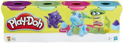 Play-doh 4 Tub/Can Pack (Assorted Colours) - Kids Modelling Dough • 6.50£