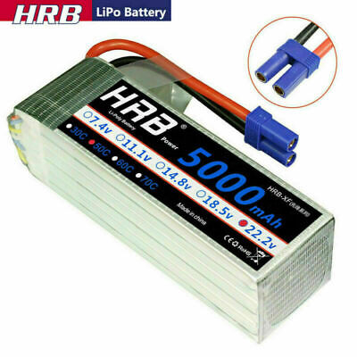 HRB 22.2V 6S 5000mAh LiPo Battery 50C EC5 For RC Helicopter Airplane Quad Car • 63.69£