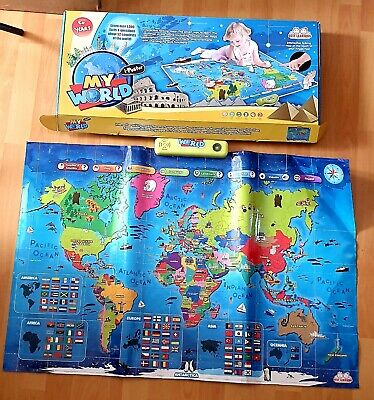 LEARNING I-Poster My World Interactive Map Educational Talking Home Schooling  • 39.95£