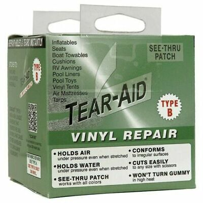 Tear Aid Type B 3  X (multiple Sizes) For Pvc, Vinyl, Tents, Canopy And Boats • 25.95£