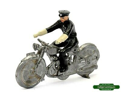 Very Rare Lead Charbens # 823 Pre-War Issue Only POLICE MOTORCYCLIST • 78£