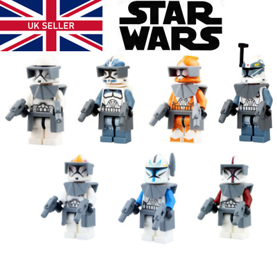 Star Wars Clone Trooper Mini Figures - Lego Compatible Bomb Squad Clones Captain • 25.99£