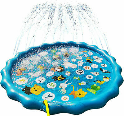 150CM Inflatable Sprinkler Splash Pad Play Mat Water Toys Swimming Pool For Kids • 11.85£