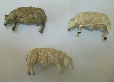 3 Vintage Cherilea Plastic 2 Inch Sheep Farm Animals  • 2.99£