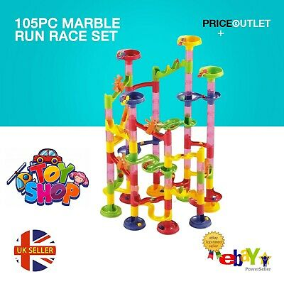 105pc Marble Run Race Set Construction Building Blocks Kids Toy Game Track Gift • 9.99£