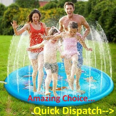 Outdoor Inflatable Sprinkler Pad✅Sprinkle And Splash Water Play Mat Toy For Kids • 15.99£