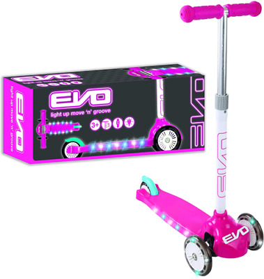 Evo Light Up Move N Groove Three Wheeled Scooter | Outdoor Scooters For Kids  • 23.99£