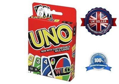 UNO CARD GAME  Wild Mattel Latest Version 112 Playing Card Indoor Family Fun • 3.95£
