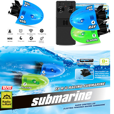 UK Mini RC Submarine Boat RC Toy Remote Control Waterproof Diving Gift For Kids  • 15.99£
