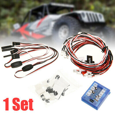 12 LED Lighting System Kit Simulation Flash Lights Lamp For 1/10 RC Car Truck UK • 9.99£