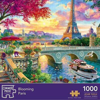 Blooming Paris 1000 Piece Jigsaw Puzzle, Toys & Games, Brand New • 9£