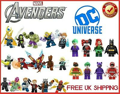 Lego And Custom Marvel DC Avengers SuperHero Mini Figures Endgame Series UK  • 21.45£