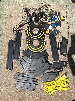 Micro Scalextric Bundle Of Track, Controllers, Barriers, Adapter, Etc FREEPOST • 15.99£