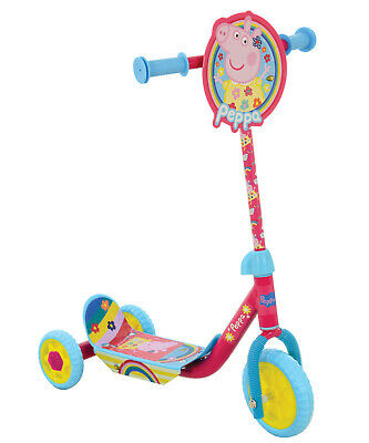 Peppa Pig My First Deluxe Tri Scooter Kids Children Peppa's Adjustable 3 Wheel  • 22.49£