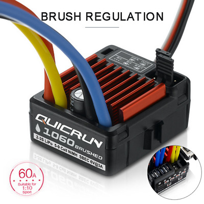 Hobbywing Quicrun 1060 Waterproof Brushed SBEC ESC (60A) HW30120201 3S LiPo • 20.99£